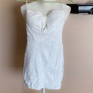 Toby white sparkling dress